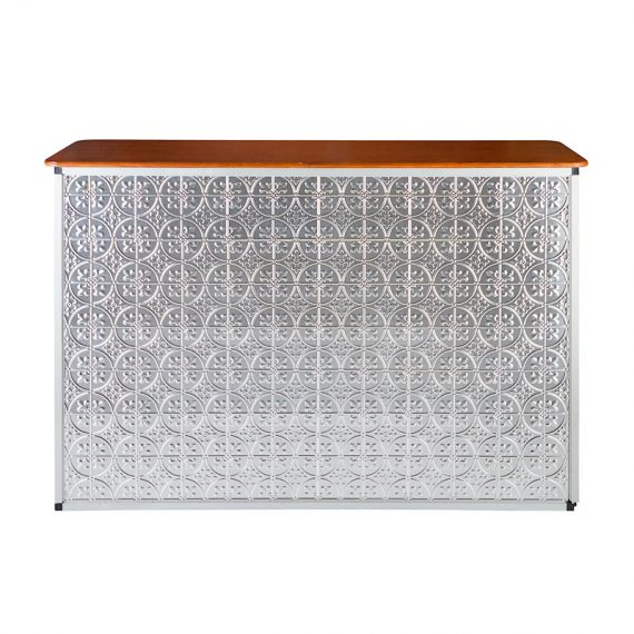 Bar Pressed Tin Silver Hire Society