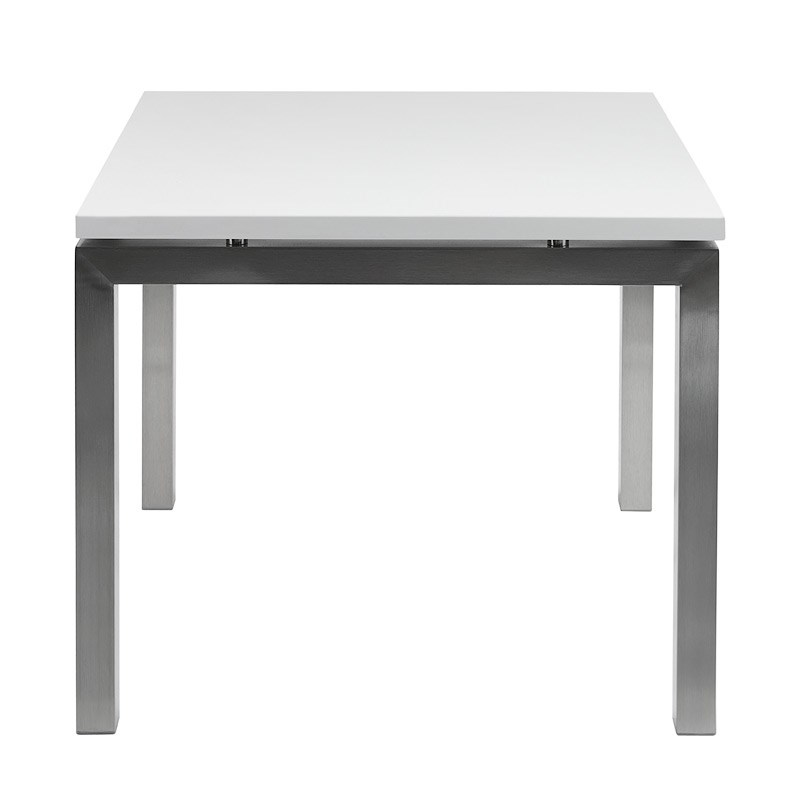 Coffee Table Chrome White Square Small Hire Society