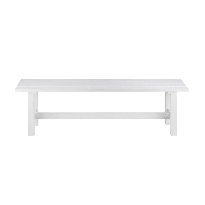 Bench Seat White Hire Society