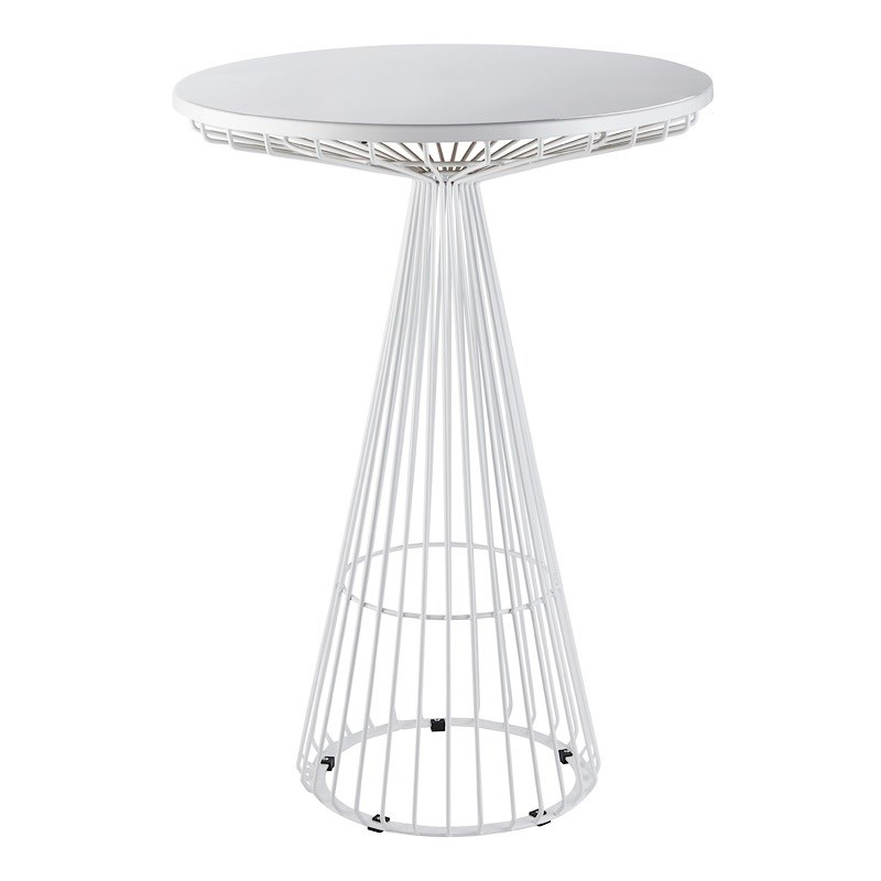 Dry Bar Table Wire Worx White Hire Society
