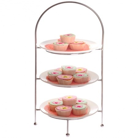 Floral Tiered Cake Stand