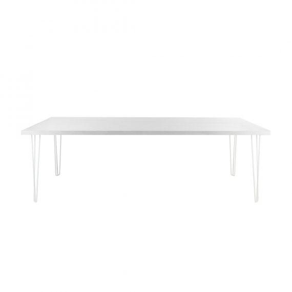Best Banquette Online: Banquet Hairpin White Top White Legs [Seats