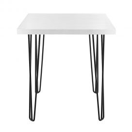 Cafe Table – Hairpin White Top Black Legs