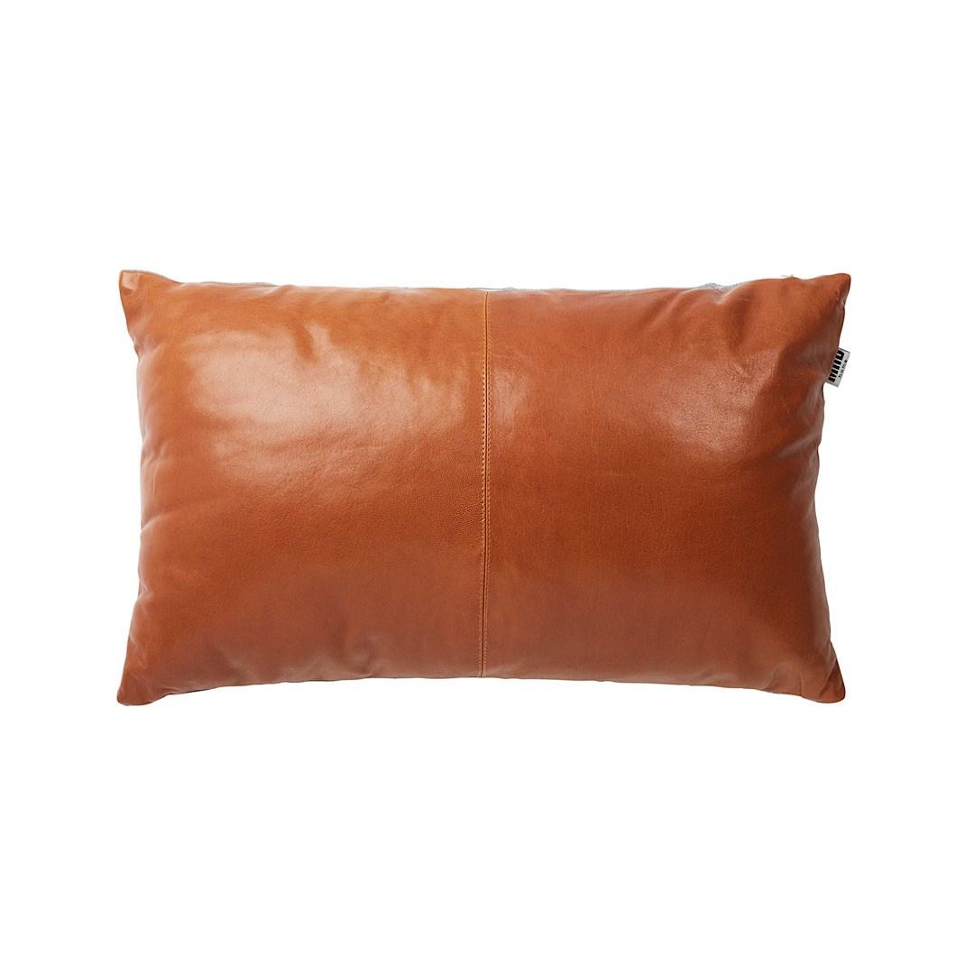 Cushion Leather Tan Hire Society