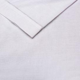 Serviette - White (Hemstitch)