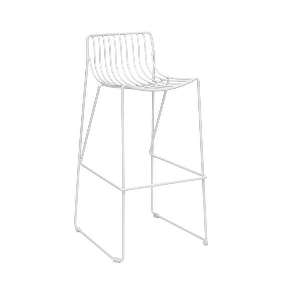 Bar Stool – Wire White