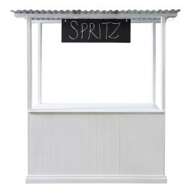 Lemonade Stand – White Timber Panel