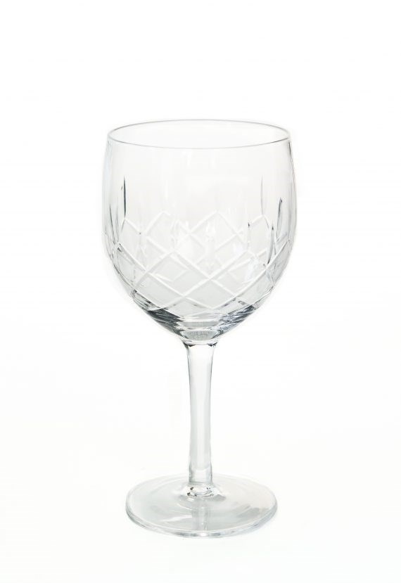 Red/White Wine Glass – Cut Glass