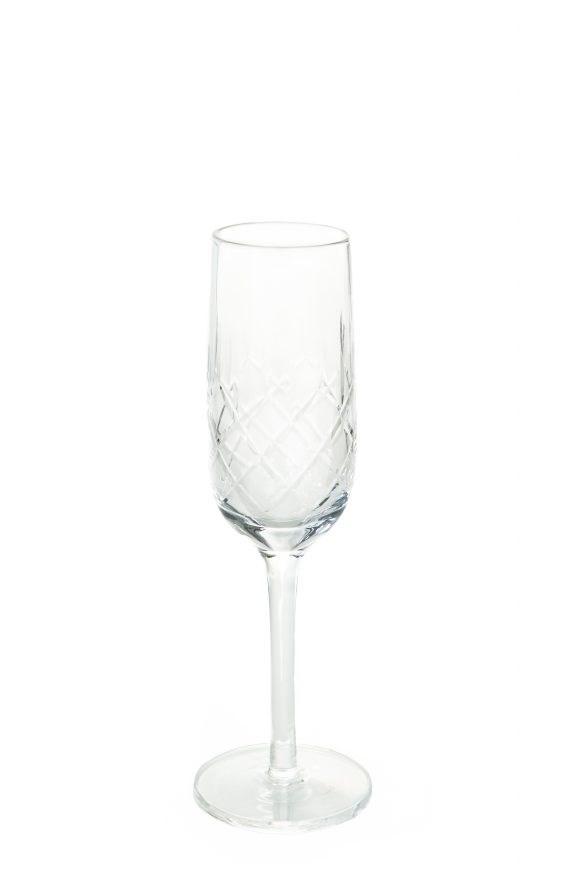 Champagne Glass – Cut Glass