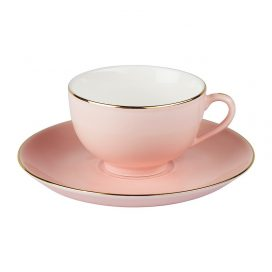 Cup and Saucer – Vintage Pink