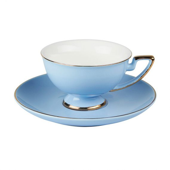 Cup and Saucer – Vintage Blue