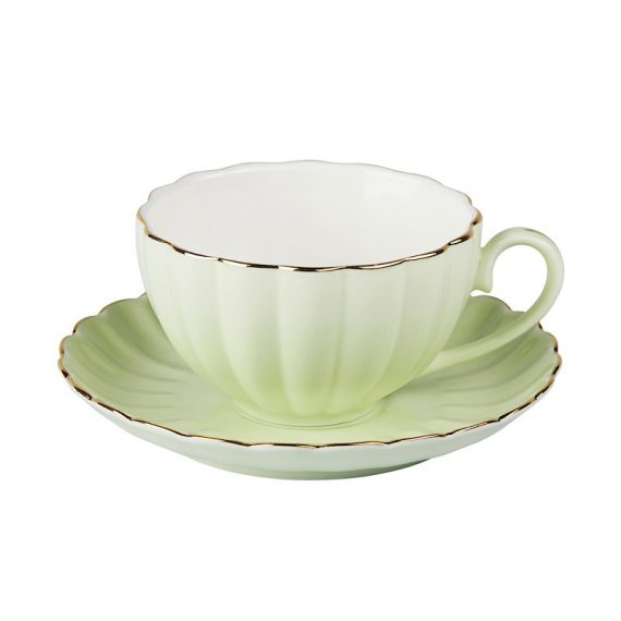 Cup and Saucer – Vintage Green