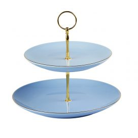 Cake Stand – Vintage Blue 2 Tier