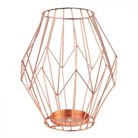 copper or rose gold vase