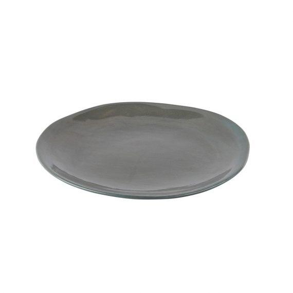 Entrée Plate – Earthware Olive Grey