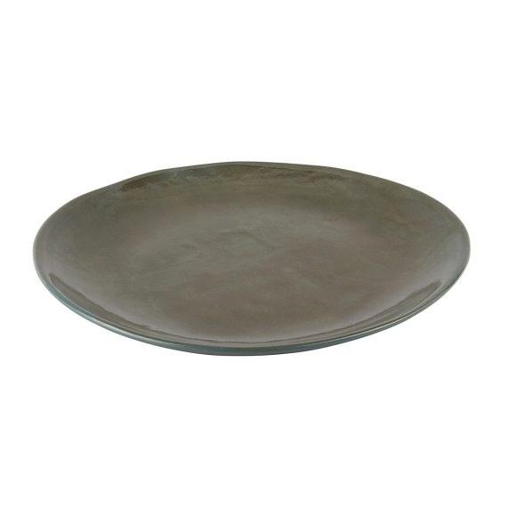 Dinner Plate – Earthware Olive Grey