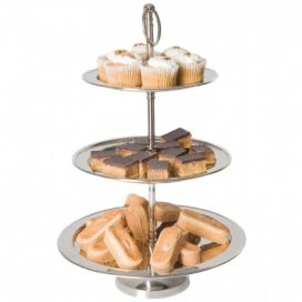 Cake Stand – Nickel 3 Tier