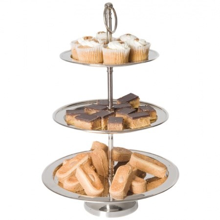 Cake Stand – Nickel 3 Tier