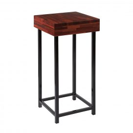 Plinth – Black Steel with Timber Top