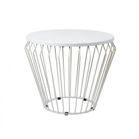 Side Table – Wire Worx White