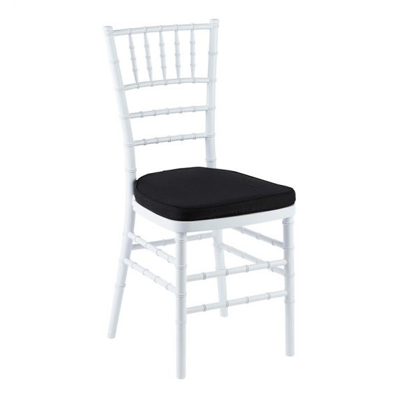 Chair – Tiffany White (with Black Cushion)
