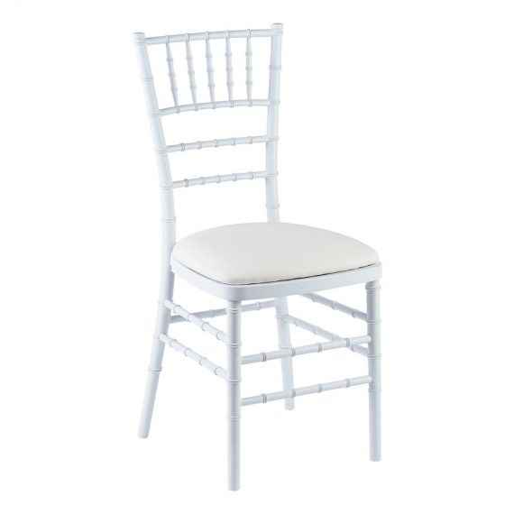 Chair – Tiffany White (with Cream Seat)