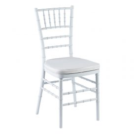 Chair – Tiffany White (with White Cushion)