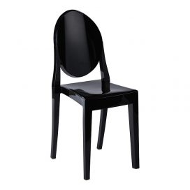ghost chair hire perth, black plastic chairs