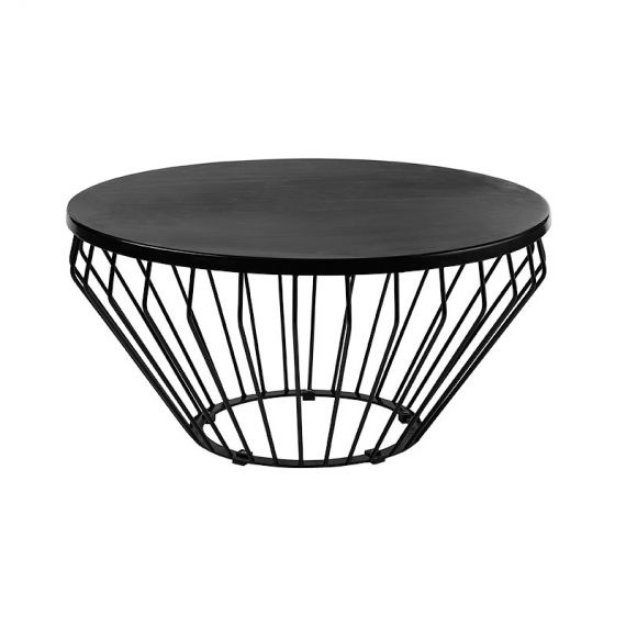 Coffee table wire worx black hire society for Wire round coffee table