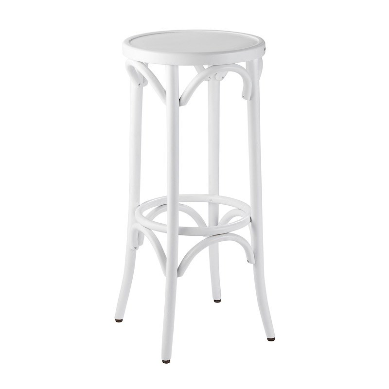 Bar Stool Bentwood White Hire Society