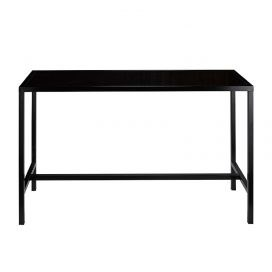 narrow black bar table