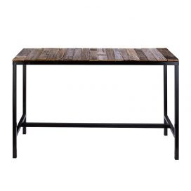 Bench Bar Table – Black with Rustic Insert