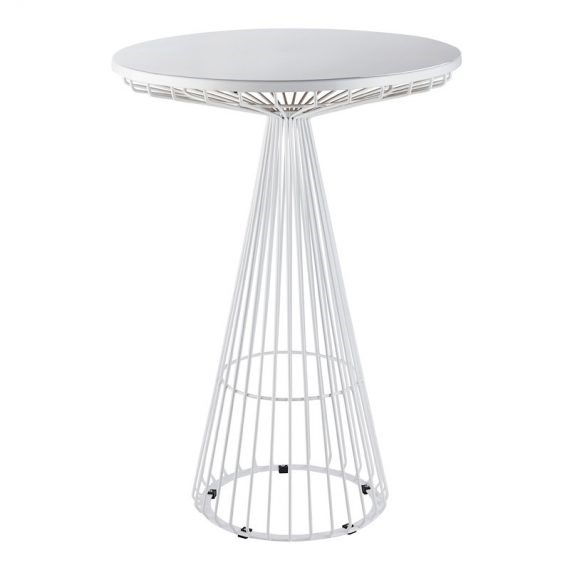 Dry Bar Table – Wire Worx White