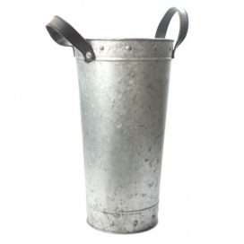 Bucket – Tin with Straps Large