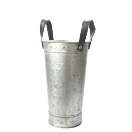 Bucket – Tin with Straps Small