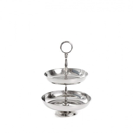 Cake Stand – Nickel 2 Tier