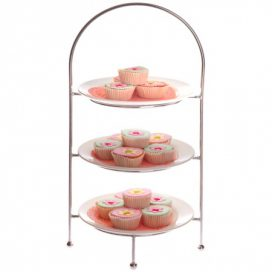 Cake Stand – Chrome 3 Tier