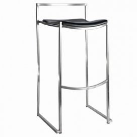 Bar Stool – Chrome & Black
