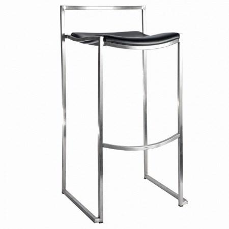 Bar Stool – Chrome & Black