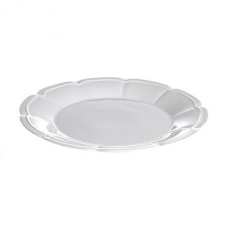 Entrée Plate – Scalloped White