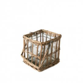 Jar with Wicker Basket – Square Hanging