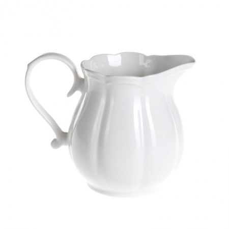 Milk Jug – Scalloped White