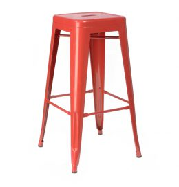 Bar Stool – Tolix Red