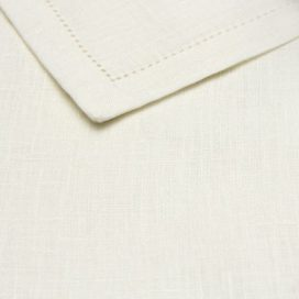Serviette – White Antique Linen (Cocktail)