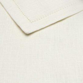 Premium Linen Serviette – White Antique