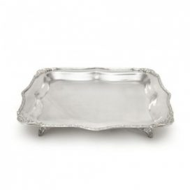 Tray – Silver Square with Legs