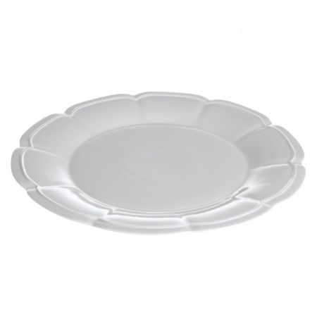 Dinner Plate – Scalloped White