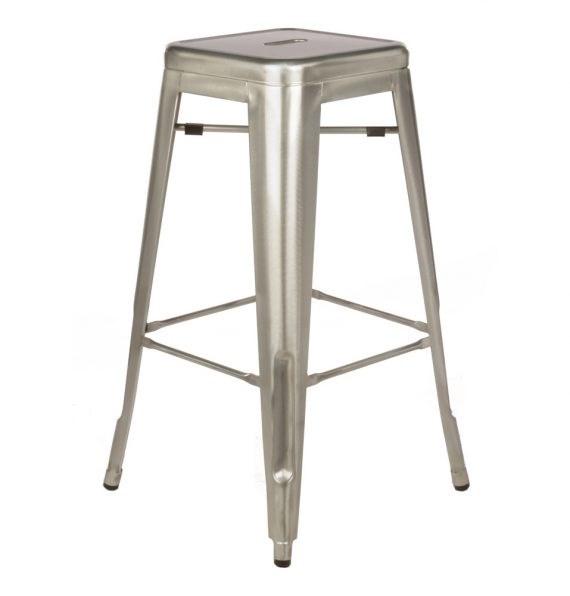 Bar stool tolix silver hire society - Tolix marais barstool ...