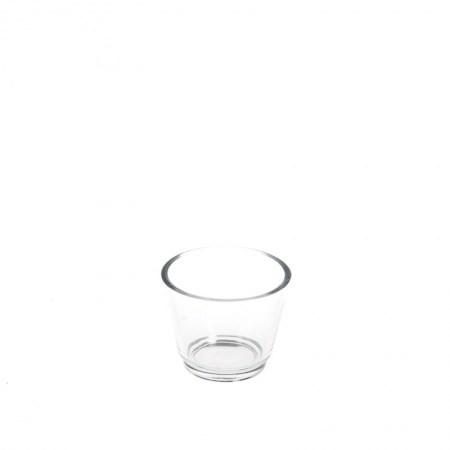 Tea Light Holder – Glass (V Shape)