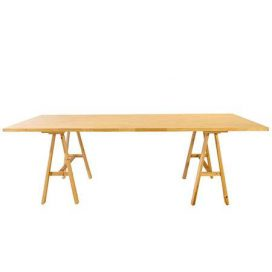 Trestle Table – Banquet Timber Rustic